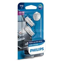 Светодиодная автолампа PHILIPS W5W LED LP 5500K (12791B2)