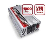 Автомобильный инвертер 12/220V IN-1000W