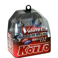 Галогеновая автолампа KOITO H4 WhiteBeam III, 3700K, 60/55W (P0746W)