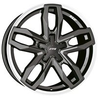 ATS Temperament 8.5x18/5x130 ET55 D71.6 Blizzard Grey Lip Polished