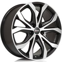 Alutec W10 9x20/5x112 ET35 D70.1 Racing black front polished