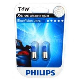 Галогеновая автолампа PHILIPS T4W BlueVision (12929BVB2)