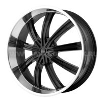 KMC KM672 9,5x24/6x135 ET35 D78,1 Black/Machined