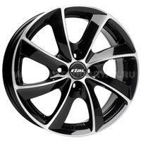 Rial Lugano 7.5x16/5x114.3 ET48 D70.1 Diamant black front polished