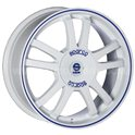 Sparco Rally 7x17/4x108 ET25 D73.1 White + Blue Lip