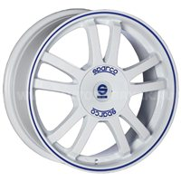 Sparco Rally 7x17/4x108 ET25 D73.1 White + Blue Lip