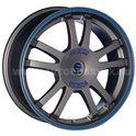 Sparco Rally 7.5x17/5x100 ET35 D63.3 Matt Silver Tech blue lip