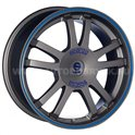 Sparco Rally 7.5x17/5x112 ET45 D73.1 Matt Silver Tech blue lip