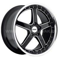 TSW Carthage 8x17/5x120 ET20 D76 Gloss Black Mirror Lip