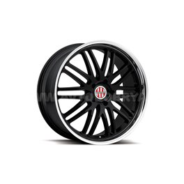 Victor Le Mans 10x20/5x130 ET50 D71 Gloss Black Mirror Cut Lip