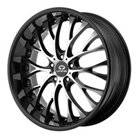 Lorenzo WL27 10x22/5x120 ET40 D74 Black/Machined