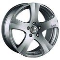 OZ 5 Star 7x16/5x100 ET35 D68 Metal Silver