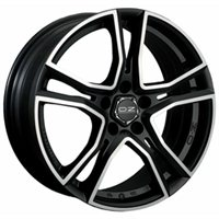 OZ Adrenalina 8x17/5x112 ET35 D75 Matt Black + Diamond Cut