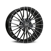 OZ Ego 7.5x16/5x100 ET35 D68 Matt Black + Diamond Cut