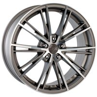 OZ Envy 7.5x17/5x100 ET35 D68 Matt Silver Tech Diamond Cut