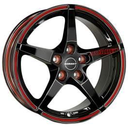 Borbet FS 8x17/5x112 ET45 D72.6 Black RED sports