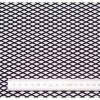 Сетка просечновытяжная черная / 15 мм.