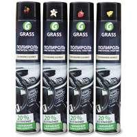 Полироль-очиститель пластика GRASS «Dashboard Cleaner» глянцевый блеск, ваниль, 750 мл.
