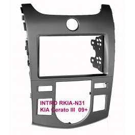 Рамка  KIA Cerato-3 09-12 (Clima) 2din (крепеж)