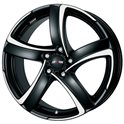 Alutec Shark 7.5x17/5x114.3 ET38 D70.1 Racing black front polished
