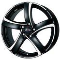 Alutec Shark 7x16/5x114.3 ET38 D70.1 Racing black polished