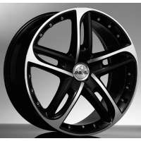 Antera 501 8.5x19/5x114.3 ET32 D75 Racing black front polished