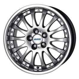 Alutec Magnum 8x17/5x112 ET40 D70.1 Sterling silver with stainless steel lip