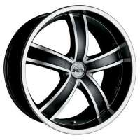 Antera 381 9.5x20/5x120 ET40 D74.1 Diamant black front and lip polished