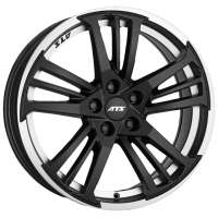 ATS Prazision 8.5x19/5x114.3 ET30 D70.1 Racing Black Double lip polished