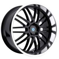 Beyern Mesh 8x17/5x120 ET15 D72 Gloss Black Mirror Cut Lip