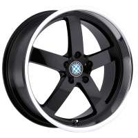 Beyern Rapp 9.5x19/5x120 ET45 D72 Gloss Black Mirror Cut Lip