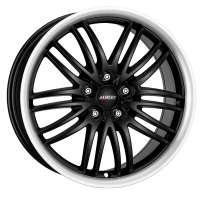 Alutec BlackSun 8.5x18/5x112 ET40 D70.1 Racing Black Lip Polished