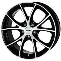 Alutec Cult 7x16/5x100 ET38 D63.3 Diamant black front polished