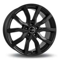 MAK Highlands 7x17/5x114.3 ET40 D76 Matt Black