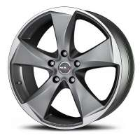 MAK Raptor5 8.5x19/5x114.3 ET35 D76 Graphite Mirror Face