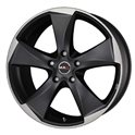 MAK Raptor5 8x18/5x114.3 ET40 D76 Ice Superdark