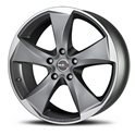 MAK Raptor5 9.5x19/5x120 ET50 D65.1 Graphite Mirror Face