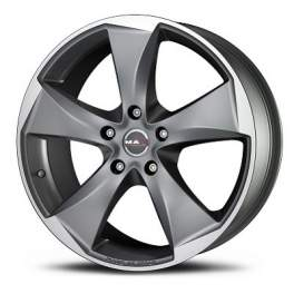 MAK Raptor5 9.5x20/5x114.3 ET35 D76 Graphite Mirror Face