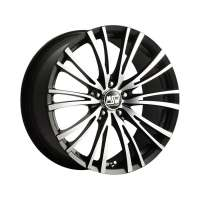 MSW 20/5 8x17/5x100 ET35 D63.3 Matt Black Full Pol